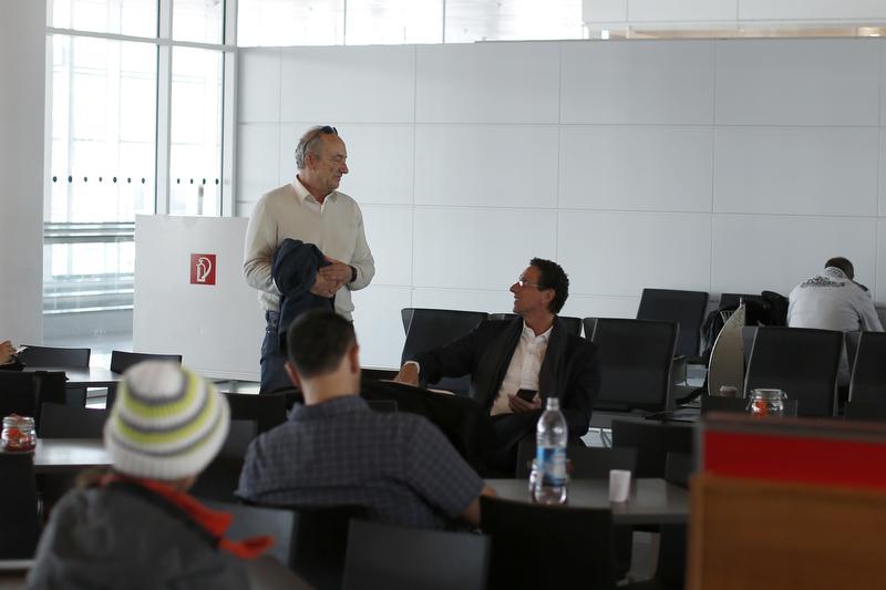09.03.2015 - London-Heathrow; Impressions: Michael Luxenburger talks to Julian Nida-Ruemelin. Credit: Lajos-Eric Balogh/turfstock.com