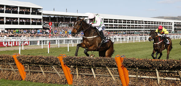 10.03.2015 - Cheltenham; Douvan ridden by Ruby Walsh wins the Sky Bet Supreme Novices Hurdle Grade 1. Credit: Lajos-Eric Balogh/turfstock.com