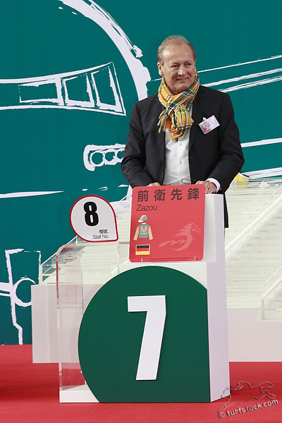 08. Dec. 2011 - Sha Tin Racecourse; Werner Heinz (sportmanager and racehorse owner}) during the barrier draw for the Cathay Pacific International Races. Credit: Lajos-Eric Balogh/turfstock.com