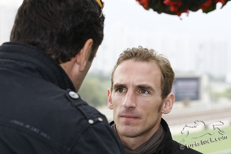 09. Dec. 2011 - Sha Tin Racecourse; Jockey Andrasch Starke in portrait. Credit: Lajos-Eric Balogh/turfstock.com
