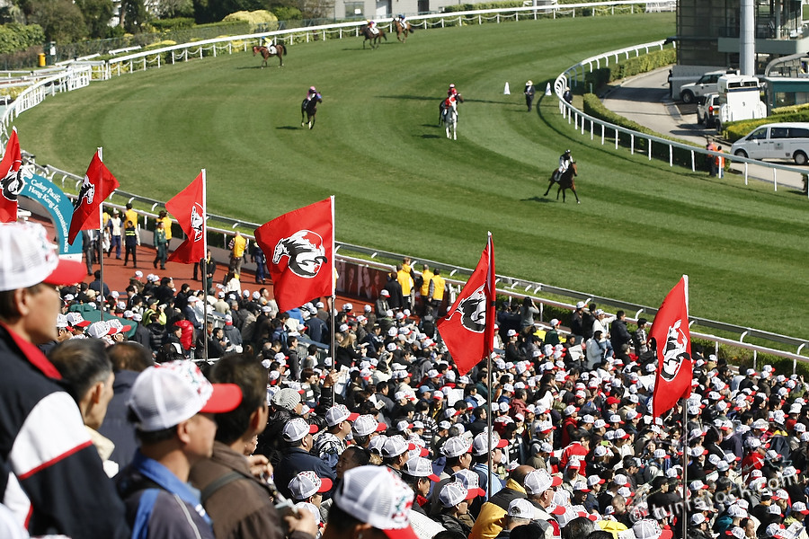 11. Dec. 2011 - Sha Tin Racecourse; Impressions: Racegoers enjoy the races at Sha Tin Racecourse. Credit: Lajos-Eric Balogh/turfstock.com