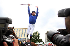 Dettori Jump by Frank Sorge.