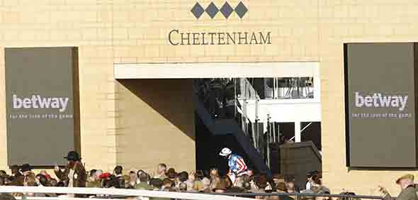 15.03.2017 - Cheltenham; Winners presentation with Noel Fehily after winning the Betway Queen Mother Champion Chase Grade 1 with Special Tiara at Cheltenham-Racecourse/Great Britain. Credit: Lajos-Eric Balogh/turfstock.com