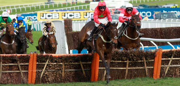 16.03.2018 - Cheltenham; Kilbricken Storm ridden by Harry Cobden wins the Albert Bartlett Novices Hurdle (Registered As The Spa Novices Hurdle Race) Grade 1 at Cheltenham-Racecourse/Great Britain. Credit: Lajos-Eric Balogh/turfstock.com